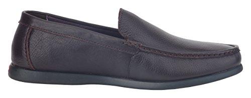 Admetus Heren Slip Op Loafers Schoenen Premium Lederen Raceschoenen Casual Mode Slipper Donkerbruin