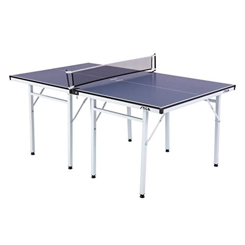 STIGA Space Saver Compact Table Tennis Table for Authentic Play at Regulation Height with a Scaled Down Size for Easy Storage (For Foldable Ping Sale Tables Pong)