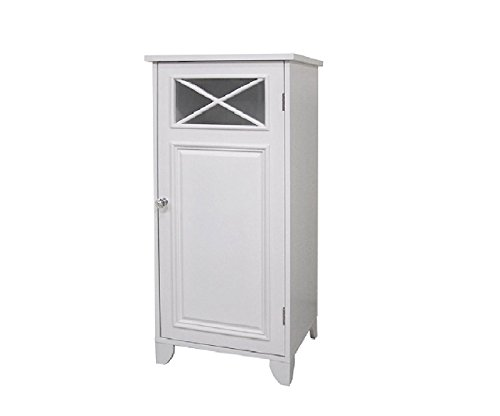 This Virgo Floor Cabinet Is a Charming Accent to Your Bathroom, Laundry or Entryway. Perfect for Storying Towels, Linens or Accessories. A Blend of Contemporary and Old World-style This Furniture Showcases a White Finish with Simple Lines and Crisscross Accents.