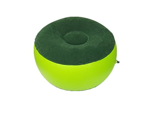 LDW Green Portable Inflatable Stools Folding Stools Outdoor Inflatable Chairs Camping Stools Used for Families, Picnics, Parent-Child Play Healthy Yoga Car Travel Leisure