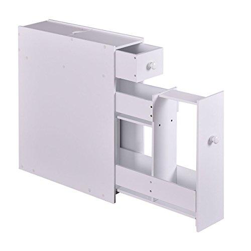 Tangkula Bath Toilet Cabinets Drawers Stand Space Saver Storage Kitchen Bathroom