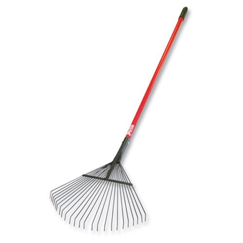 (Bully Tools 92312 Leaf and Thatching Rake with Fiberglass Handle and 24 Spring Steel Tines)