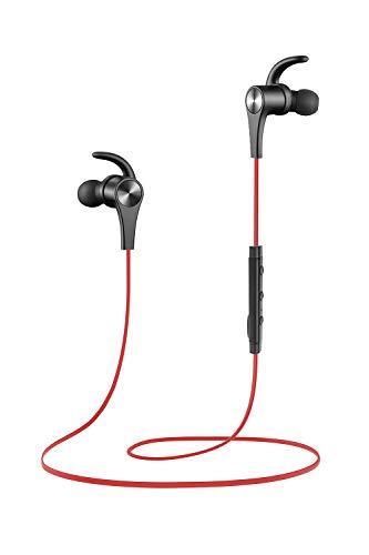 Auriculares magnético SoundPEATS Auriculares Bluetooth 4.1 Cascos inálambrico Deportivos, tecnología de Ruido de Cancelación CVC 6.0,Sonido Estéreo de calidad superior (Rojo)