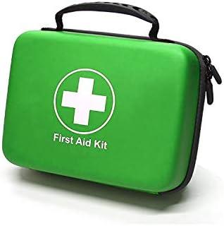 Kompaktes Erste-Hilfe-Set (228 Stück) Entwickelt für Familien-Notfälle. wasserdichte Eva Case&Bag ist ideal für das Auto, Boot, Wandern, Reisen, Büro, Sport, Jagd. Beschütze Deine Lieben, Grün