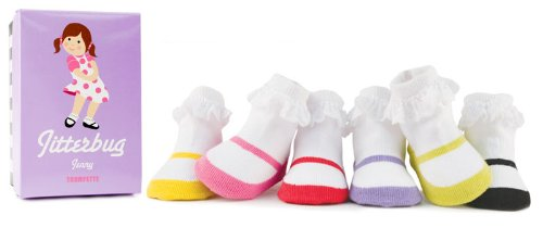 Trumpette Jitterbug Jenny Socks, Colors May Vary, 0-12 Months