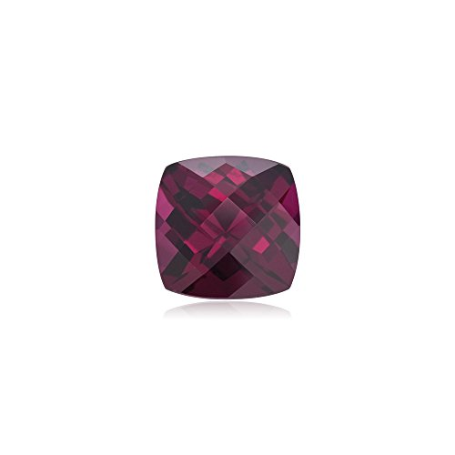 Mysticdrop 4.25-4.50 Cts of 10 mm (1 pc) Loose Cushion Checkered Rhodolite Garnet by Mysticdrop