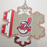 Forever Collectibles Cleveland Indians Snowflake Holiday Christmas Ornament