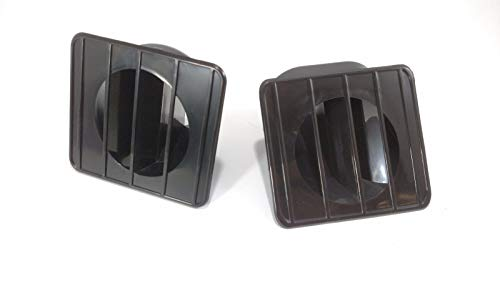 Pair Black Dash Vents for 1967-1972 Chevrolet & GMC Pickup Trucks/Blazer