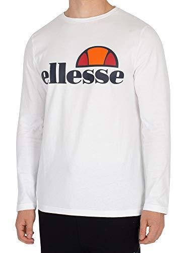 Ellesse Grazie Long Sleeve Optic White Cotton T-Shirt XXL White
