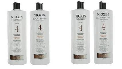 Nioxin System 4 Cleanser Scalp Therapy Conditioner Fine Treated Set Duo