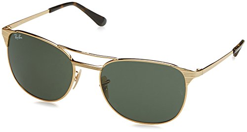 Ray-Ban Men's Metal Man Square Sunglasses, Gold, 58 - Rb3429m