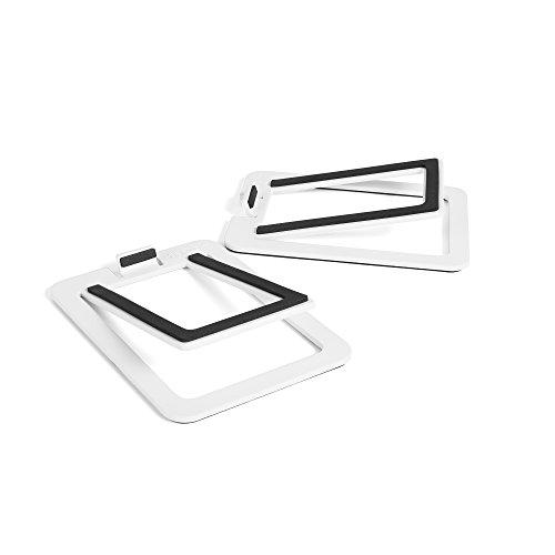 Kanto S2 Desktop Speaker Stands for Small Speakers, White