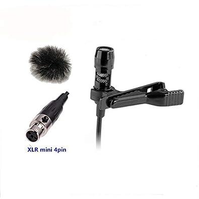 3a35fdb3b HATCHMATIC Lapel Invisible Microphone Condenser Mikrofon Condensador  Microfono Stand with Mini XLR 4pin for Shure Wireless