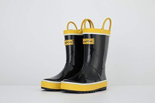 - CasaMiel Kids Rain Boots for Boys Toddler Rain Boots for Girls, Handmade Natural Rubber Boots for Children Black