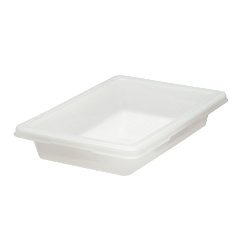 Rubbermaid Commercial Food Storage and Tote Box, 5 Gallon, White, FG350600WHT