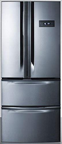Summit FDRD15SS 27 Inch Counter Depth French Door Refrigerator in Stainless Steel