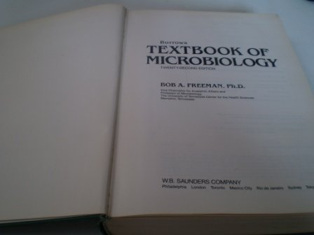 Burrow's Textbook of Microbiology