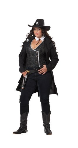 California Costumes Plus-Size Round Em Up, Black, X-Large (Country Western Ladies Costumes)