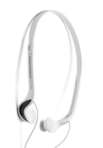 (SONXTRONIC White ICE Xdr-8001 Vertical in Ear Ultralight Sport Running Headband Headphones (mdr-w08l Style White and Silver))