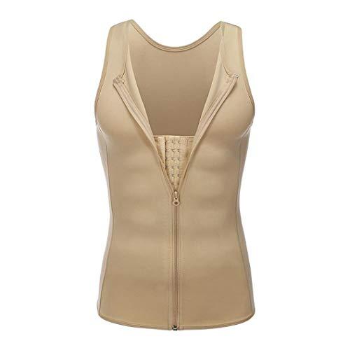 Waist Cincher Men Body Shaper Workout Shapewear Vest Modeling Belt Sport Slimming Belly Beige
