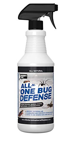 All-N-One Bug Defense Natural Spray by Exterminator's Choice for Roaches Ants Silver Fish Crickets|Spiders|Beetles|Fleas and ticks|Insect Repellents and Insect Killer Spray...