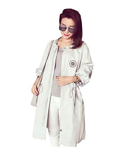 Baggy Lunga Manica Autunno Primaverile Grau Rotondo Fashion Giacca Giaccone Outerwear Collo Cappotto Casual Coat Eleganti Donna Targogo Outdoor wq4Izn