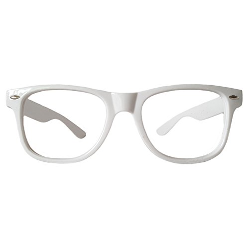 Comfortable Young Classic Retro Fashion Style Ultra-light Glasses Eyewear Frames -NO LENSES (WHITE)