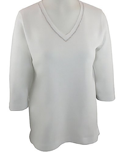 Swarovski T-shirt Tank Top - Christine Alexander Top With Swarovski Crystals - Crystal Lines (Small)