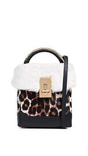 Faux VOLON THE Women's Box Bag L Leopard Great Fur rI44qdw