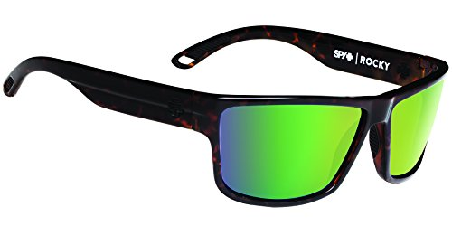 Spy Optic Rocky Flat Sunglasses, Classic Tort/Happy Bronze/Green Spectra, 64 - Sunglasses Green Spy