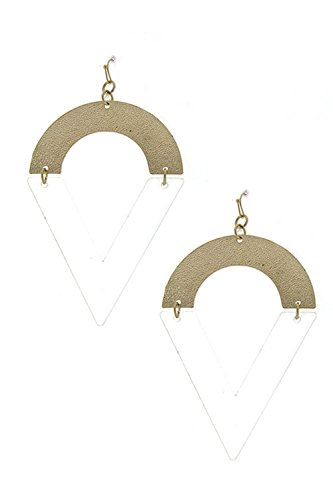 Trifari Clear Rhinestone (DIVA & DUCHESS GEOMETRIC LINES STATEMENT EARRING)