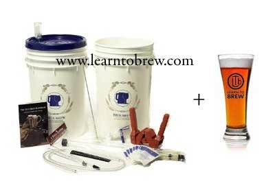 Learn To Brew LLC HOZQ8-1611 Basic Home Beer Brewing Kit with 5 gal India Pale Ale (IPA) Ingredients Included, Multicolor