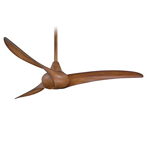 """Minka-Aire F843-DK, Wave, 52"""" Ceiling Fan with Remote Control, Distressed Koa"""