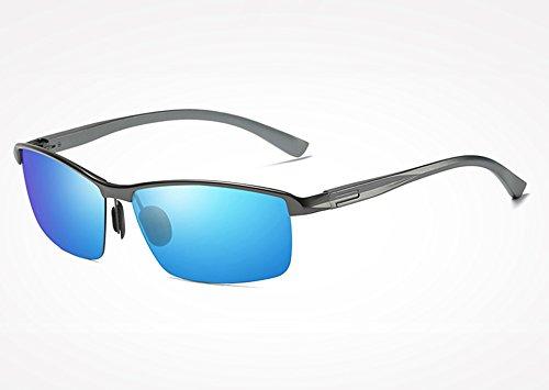 de Azul Hombres Gafas TL Gafas UV400 Gafas polarizadas blue Gafas de Sunglasses Gris magnesio de Sol Bastidor Classic Aluminio Guide gray Piazza Yq6w0xqU