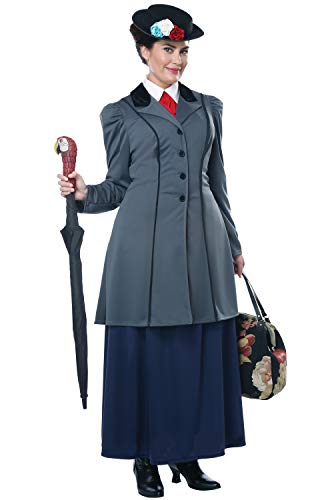 Queen Mary California Halloween (California Costumes Size English Nanny-Adult Plus Women Costume, Gray/Navy,)