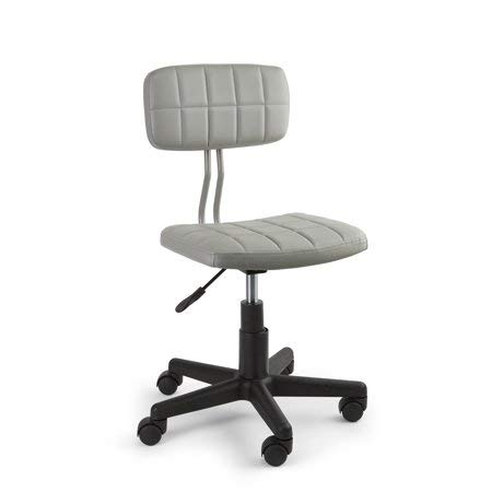 Mainstay Student Faux Leather Office Rolling Chair, Gray (Z-line Designs Task Chair)