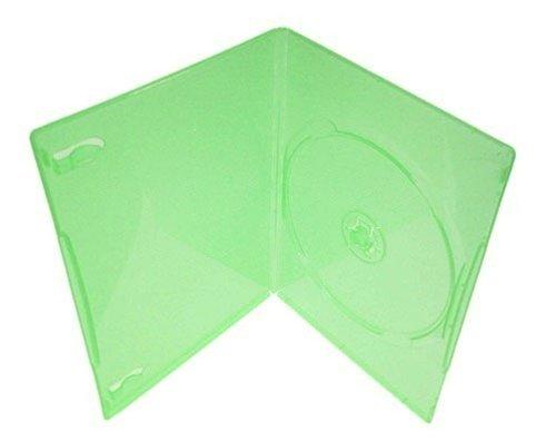 mediaxpo Brand 100 Slim Clear Green Color Single DVD Cases ()