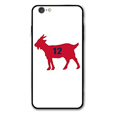 Slim Fit iPhone 6/6s Plus Silicone Case, Red England Brady Goat Shock-Absorption Anti-Scratch Bumper Cover Dustproof Full Body Drop Protection Cover for Apple iPhone 6/6s Plus