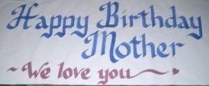 Toomuchstuff4us HUGE Personalized Custom Hand Painted Paper Banners for Happy Birthdays, Anniversary, Graduation, Retirement, Congratulations, Weddings, 20th 25th, 30th, 40th, 50th, 60th (Custom Paper Banners)