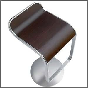 Lapalma - La palma taburete de bar lem roble nogal (66-79 cm) marco cromado