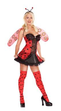 Ladybug Playboy Sexy Adult Costume size XS 2-4