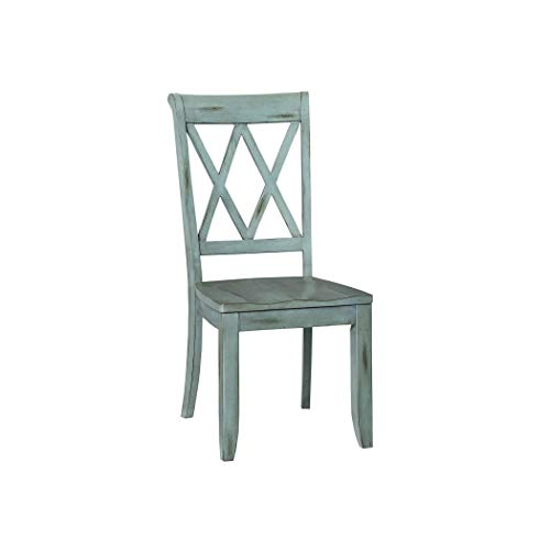 Standard Furniture 11305 Vintage Transitional Style Dining Side Chairs, Pack of 2, Distressed - Chair Dining Bay Standard