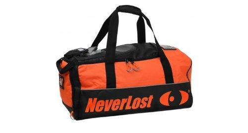 NeverLost Reisetasche Dry Vault, signalorange schwarz, 80 L