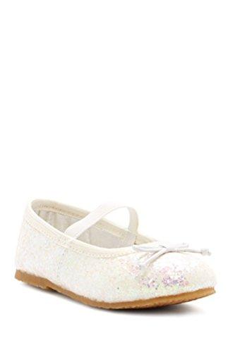Girls Glitter White Ballet Flats Glitter 416 L'Amour 0dUHwAqq