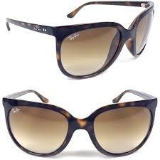 Ray-Ban RB4126 Cats 1000 Cat Eye Sunglasses, Light Havana/Brown Gradient, 57 mm (Cat Ray Bans)