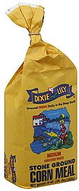 Dixie Lily Medium Enriched White Stone Ground Corn Meal 24oz by Dixie