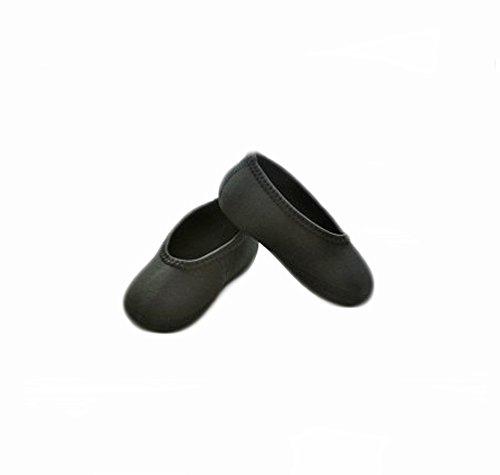 Nufoot Indoor Toddler Shoes Ballet Flat, Toddler Ballet Flat Slipper, Black, Size 9T- 12T 2 Count
