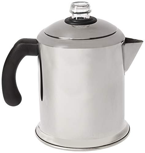 Farberware 50124 Classic Stainless Steel Yosemite 8-Cup Coffee Stovetop Percolator,