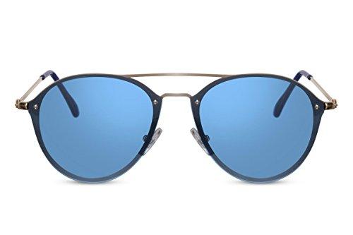 Sol Gato Coloreadas UV400 Protección Lentes de Ojo Modernas Azul1 Gafas de Cheapass nZCwqxRUn