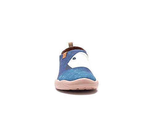 Women's Uin Each Shoe Blue Casual Hug Other Canvas Painted wwaUqr